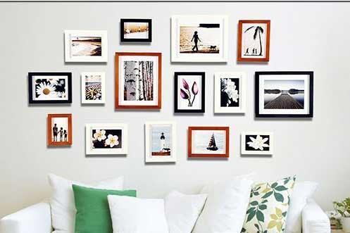 ترفندی ساده برای چیدمان بهتر تابلو و قاب عکس در خانه