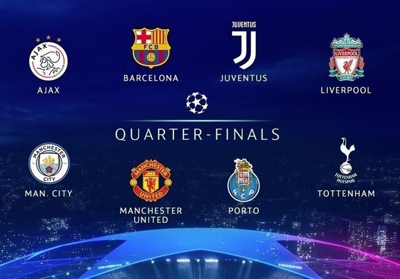 قرعه کشی مرحله یک چهارم نهایی لیگ قهرمانان اروپا، دوئل بارسلونا با منچستریونایتد، رونالدو به قاتل رئال مادرید رسید