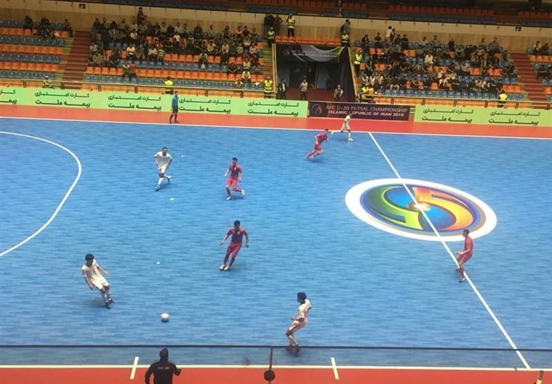 فوتسال قهرمانی زیر 20 سال آسیا، پیروزی تایلند مقابل قرقیزستان با کامبک در یک دقیقه