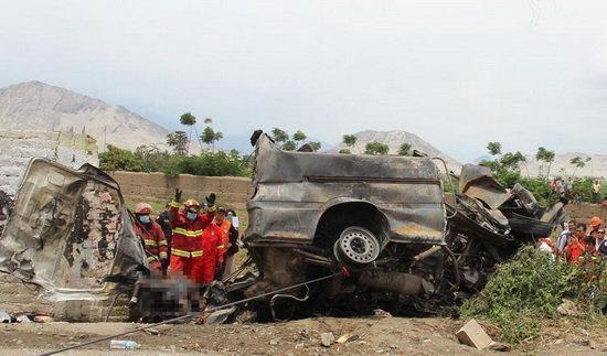 26 کشته و مصدوم در تصادف کامیون در چین