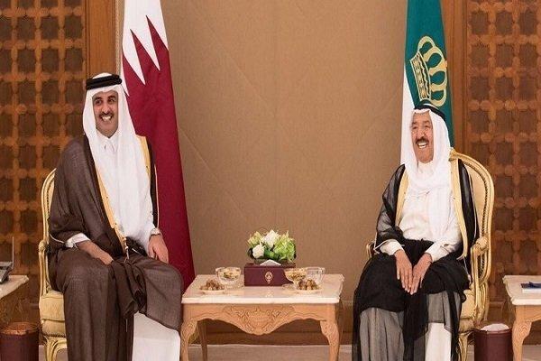 امیر کویت دستخطی از امیر قطر دریافت کرد