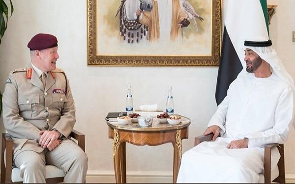 دیدار مقام ارشد نظامی انگلیس با ولیعهد ابوظبی