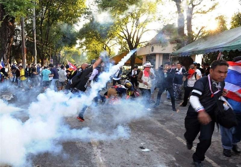 انفجار بمب در میان معترضان در تایلند 22 زخمی برجای گذاشت