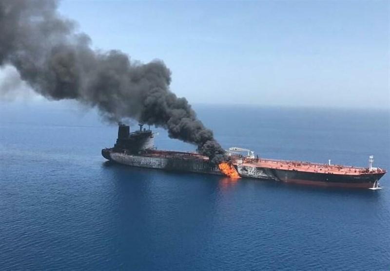 تکذیب غرق شدن نفتکش های حادثه دیده در دریای عمان، آتش سوزی یکی از شناورها خاموش شد