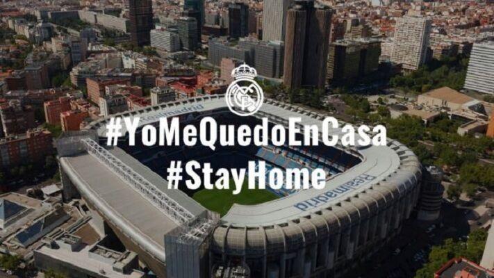 خبرنگاران پیوستن بازیکنان رئال مادرید به پویش در خانه بمان