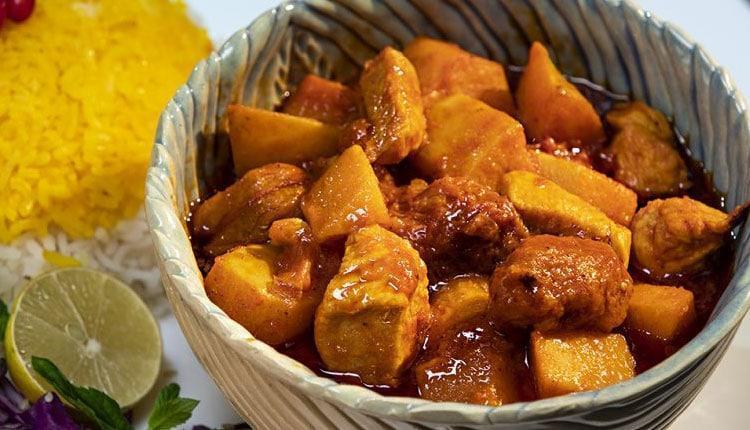 طرز تهیه خورش به اصفهان، با مرغ و گوشت فوق خوشمزه!