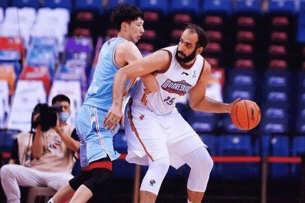 حامد حدادی دومین بازیکن برتر در لیگ بسکتبال چین شد