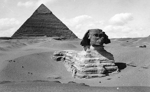 تصاویری جالب از مجسمه باستانی ابوالهول مصری!